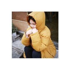 CHERRYKOKO - Hooded Snap-Button Puffer Jacket
