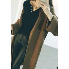 ATTYSTORY - Open-Front Long Cardigan