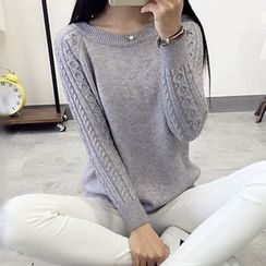 Polaris - Cable Knit Sleeve Sweater