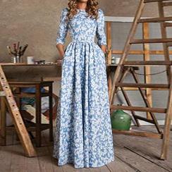 joELLE - Flower Print Maxi Dress