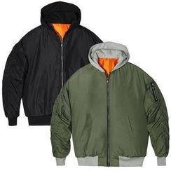 Seoul Homme - Hooded Padded Flight Jacket