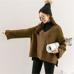 PIPPIN - V-Neck Dolman-Sleeve Sweater