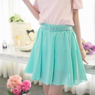 Tokyo Fashion - Belted A-Line Skirt
