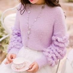 Candy Rain - Ruffled Sweater