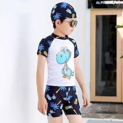 Hokit - Kids Printed Swim Wear Set