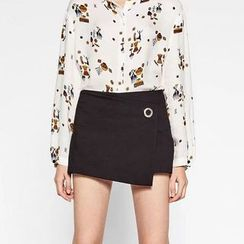 Chicsense - High Waisted Wrap Skort