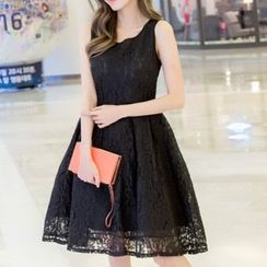 Ekim - Sleeveless Lace Skater Dress