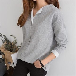 PIPPIN - Long-Sleeved Split-Neck Top