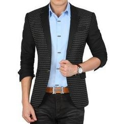 JIBOVILLE - Dotted Panel Blazer