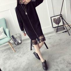 Qimi - 長尾小高領針織連衣裙