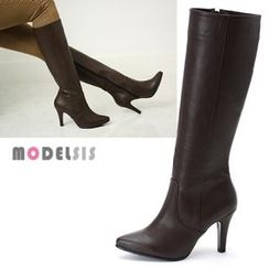 MODELSIS - Side-Zip Knee-Height Boots