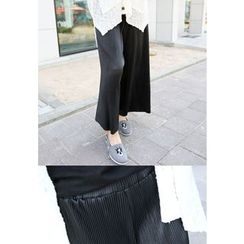 REDOPIN - Wide-Leg Ribbed Pants