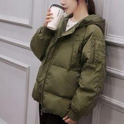 Polpetta - Hooded Padded Zip Jacket