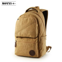 Moyyi - Zip-up Canvas Backpack