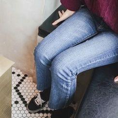 mimi&didi - Fray-Hem Boot-Cut Jeans