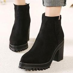 Mancienne - Pointy-Toe Heel Ankle Boots