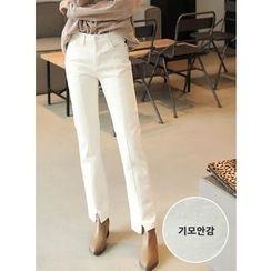 BBAEBBAE - Brushed-Fleece Slim-Fit Pants