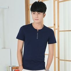 Seahound - Short-Sleeve Buttoned T-Shirt