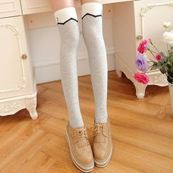 MEIA - Printed Knee Socks