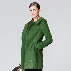 O.SA - Embroidered Double-Breasted Coat