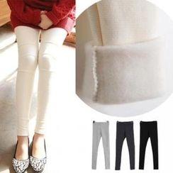 the ebbm - Seam-Trim Brushed Fleece-Lined Leggings