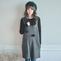 JUSTONE - Wool Blend Rib-Knit Jumper Dress