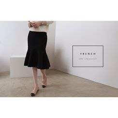 DAILY LOOK - Band-Waist Ruffle-Hem Skirt