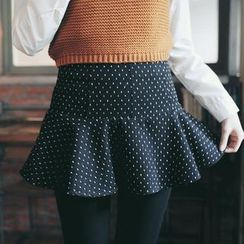 Tokyo Fashion - Ruffled Dotted Skirt