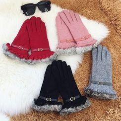 Pompabee - Furry Trim Gloves