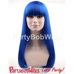 Party Wigs - PartyBobWigs - Party Long Bob Wigs - Blue