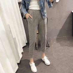时尚麻豆家 - 纯色慢跑裤