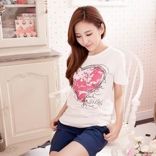 RingBear - Heart & Letter-Print T-Shirt
