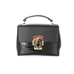 DABAGIRL - Metal-Closure Snakeskin Satchel