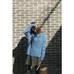 CHERRYKOKO - Turtle-Neck Wool Blend Sweater