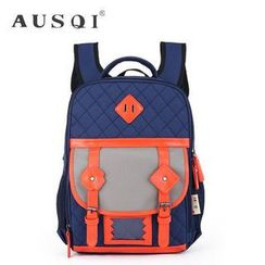 Ausqi - Kids Contrast-Trim Canvas Backpack
