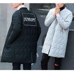 Bay Go Mall - Applique Back Padded Coat