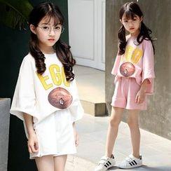Famula - Kids Set: Lettering T-Shirt + Shorts