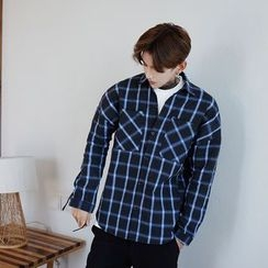 Mr. Cai - Long-Sleeve Pocket Check Shirt