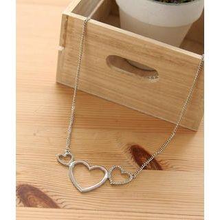 Petit et Belle - Rhinestone Multi-Heart Necklace