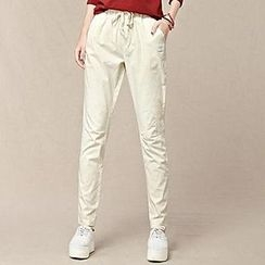Hazie - Plain Drawstring Pants