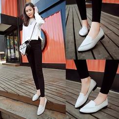 Tania - 仿皮尖頭樂福鞋
