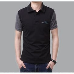 JIBOVILLE - Two-Tone Polo Shirt
