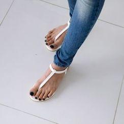 JUSTONE - T-Strap Flat Sandals