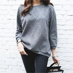 PIPPIN - Dolman-Sleeve Textured Sweatshirt