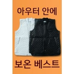 Ohkkage - Faux-Leather Quilted Vest