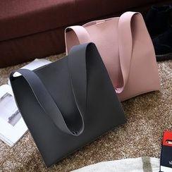 Diamante - 套裝: 人造皮手提包 + 拉鍊小袋