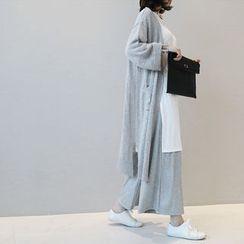 NANING9 - Open-Front Long Cardigan