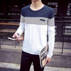 Alvicio - 插色长袖T恤