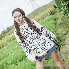 Polaris - Patterned Furry Sweater