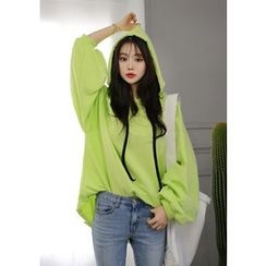 DEEPNY - Hooded Colored Oversized Pullover